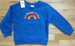NWT HANNA ANDERSSON RAINBOW ALL YOU NEED IS LOVE SWEATSHIRT 70 6 12 months