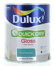 Dulux Quick Dry Gloss High Sheen 750ml Proud Peacock Wood & Metal Interior/Exter
