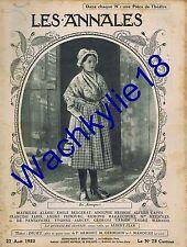 Les annales n°2044 du 27/08/1922 Puy-de-Sancy Mont-Dore Auvergne Berlioz