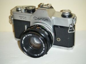 Vintage Canon TX 35mm Camera With 50mm Lens (AS-IS)