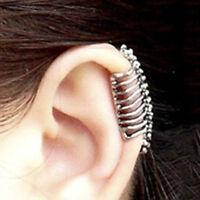 Spine Stud Piercing Women Men's Hand 2PCS Skull Gothic Punk Earrings