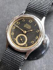 1945 Doxa Swiss Made Mens Dress Watch WW2 Era Gorgeous Hands & Patina