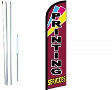 Printing Services Windless  Swooper Flag With Complete Hybrid Pole set