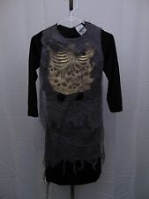 Totally Ghoul Skull Zombie Boys' Halloween Costume Robe Small #1095