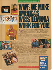 Hulk Hogan WWF World Wrestling Federation Wrestlemania 1986 Ad- work for you