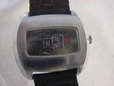 Vintage large antique Art Deco / Space Age SUTTON JUMP HOUR mens watch
