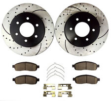 Fits 2004-2008 Ford F-150 Front Drilled & Slotted Brake Rotors and Ceramic Pads