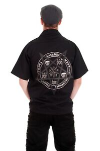 Pentagram Mens Work Shirt. Goth Rock