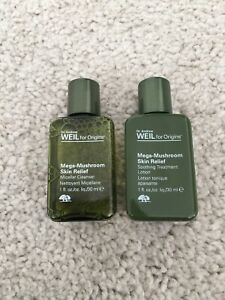 Origins Dr. Andrew Weil Mega Mushroom Skin Relief Lotion & Cleanser NEW