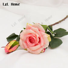 Real Touch Rose Artificial Silk Flowers Peony Bridal Wedding Bouquet Home Decor