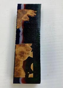 Beau Australien Burl Stabilisé Alumilite Hybrid Couteau Flans