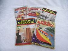 Vintage Set Of 5 1937-1938 Modern Mechanix Magazines