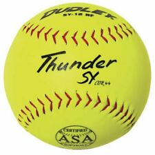 "New Dudley Asa Thunder Sy Slow Pitch Synthetic Soft Ball 11"" Yellow/Red 11 Balls"