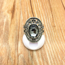 Vintage Jewelry 316L Stainless Steel Fashion Design Transparent Ring Size 10 T10