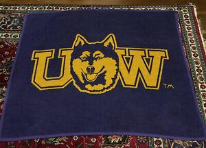 "Biederlack UW University Of Washington Huskies Throw Blanket 54"" By 48"""