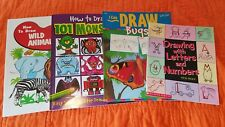 Drawing Books (Lot 4) Drawing with Letters and Numbers, 101 Monsters, Draw Bugs