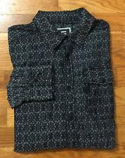 G-Star Long Sleeve Printed Snap Pocket Western Style Shirt Men's Size L