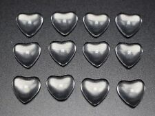 100 Transparent Clear Love Heart Dome Flatback Glass Cabochon 10mm
