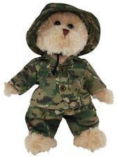 """BNWT - TIC TOC TEDDIES JACK THE """"OPERATIONS BEAR"""" ARMY SOFT TOY 30CM/12inch"""
