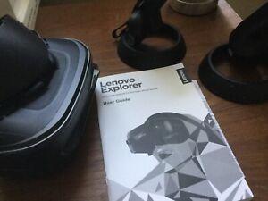 Lenovo Explorer Windows Mixed Reality, PC. No box. Headset and Controllers