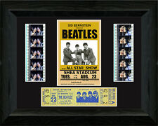 The Beatles  Shea Stadium ,35mm filmcell with Concert Ticket
