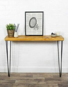 Console Table With Hair Pin Legs | Reclaimed Timber Style | Solid Wood Furniture