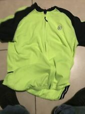 Canari Mens Xl (48 in Chest) High-Vis Yellow 1/4 Zip S/S Cycling Bicycle Jersey