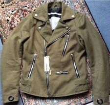 Rare Men's DIESEL J GIBSON BIKER JACKET, Size Small, Khaki Colour with Tags