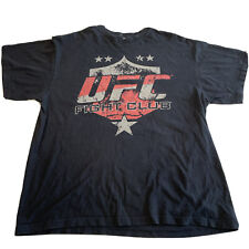 Vintage 2012 Ultimate Fight Club T-Shirt Black XL UFC MMA Distressed T-Shirt Men