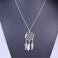 Dream Catcher Turquoise Feather Charm Pendant Trend Jewelry Long Chain Necklace