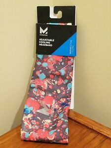 Mission VaporActive Adjustable Cooling Headband - Graffiti Multi High Vis Coral
