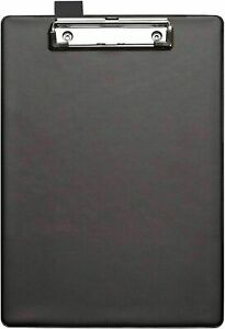 Wholesale job lot of 27 A4 Black PVC Clipboards High Quality and Sturdy