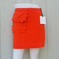 Victoria Beckham for Target Orange Scallop Pocket Trim Twill Skirt NWT