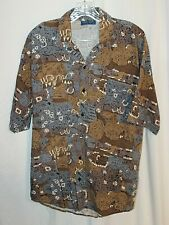 TOWNCRAFT Men's L Vintage Hawaiian Short Sleeve Made in USA Shirt
