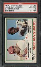1978 O-PEE-CHEE #2 GEORGE FOSTER/ JIM RICE NM-MT PSA 8 GR1675