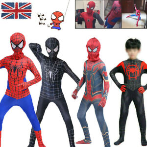 Spiderman Cosplay Outfits Kids Super Hero Costume Fancy Jumpsuit Suit Set Gift