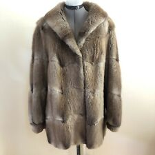 Dasco Beautiful Vintage Women's Real Fur Coat with Flip Up Collar Large