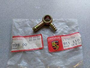 NOS ORIGINAL GENUINE PORSCHE 911 CIS FUEL DISTRIBUTOR DOUBLE FUEL FITTING