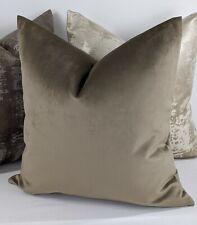 "John Lewis Luxury Knitted Velvet in Walnut Fabric Cushion Cover 18x18"""