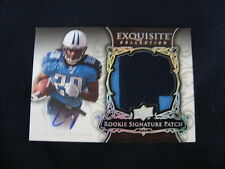 CHRIS JOHNSON ROOKIE SIGNATURE PATCH CARD--2008 EXQUISITE #'D TO 75 ! (SILVER)