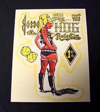 One Percent Club 1%er Rat Fink Ed Big Daddy Roth Poster Print Vintage HOG Rebel