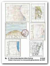Peddinghaus 1/35 Real Battle Maps of North African Campaign WWII (6 maps) 1885