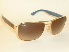 New RAY BAN  Sunglasses  Gold Frame  RB 3530 001/13  Gradient Brown Lenses
