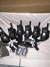 6 Motorola CLS1410 UHF Portable Two-way Radios: Good Condition