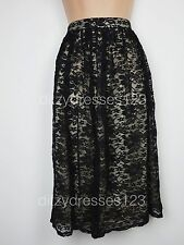 BNWT Atmosphere Black Lace Skirt Size 10