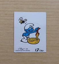 FIGURINE CARTONATE PEYO - I PUFFI 1995 - FIG. N°17/30 PUFFO GOLOSONE - CARDBOARD