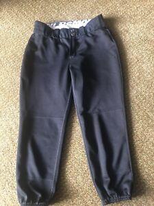 DeMarini Black Softball Pants, Size Medium