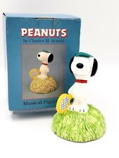 """Peanuts Snoopy Music Box """"In The Good Old Summer Time"""" Willitts Vintage"""