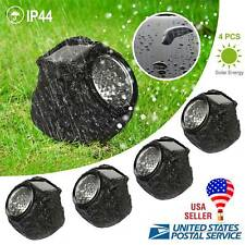 4xLED Rock Lights Solar Power Stone Spot Light Garden Spotlight Outdoor Lighting