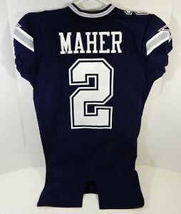 2018 Dallas Cowboys Brett Maher #2 Game Issued Navy Jersey DP09501
